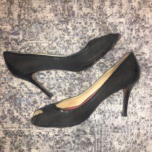 Peep Toe Black Heel- Kate ♠️